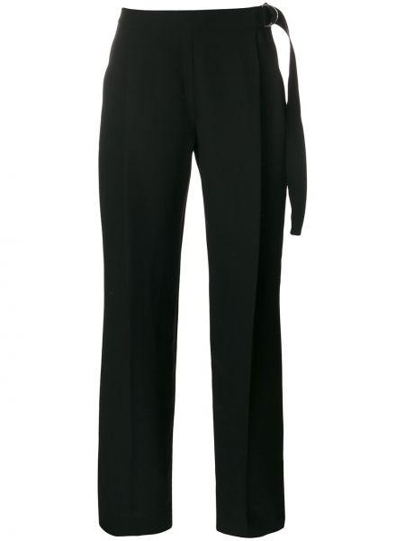 Czarne spodnie z wiskozy oversize Carven