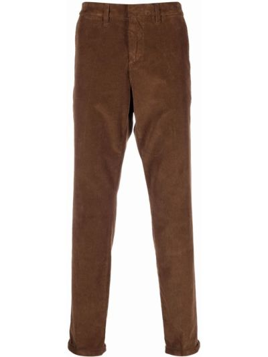 Коричневые брюки вельветовые Fay