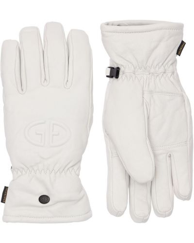 Кожаные перчатки - белые Goldbergh