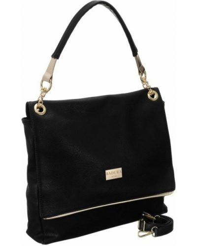 Złota torebka na łańcuszku - czarna Badura