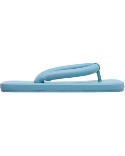 Bawełna niebieski skórzany sandały Camper