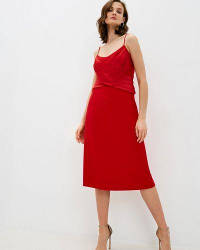 Красное вечернее платье Lauren Ralph Lauren
