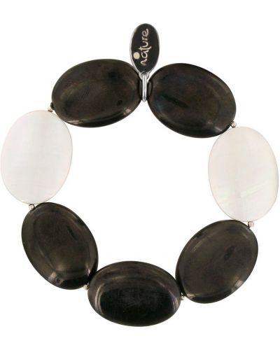 Черный браслет с камнями Nature Bijoux