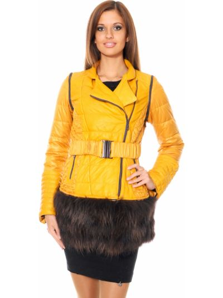 Текстильная куртка - желтая Mor`a