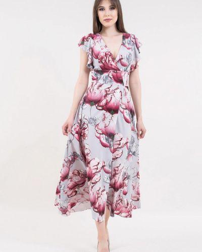 Повседневное платье весеннее серое Maxa