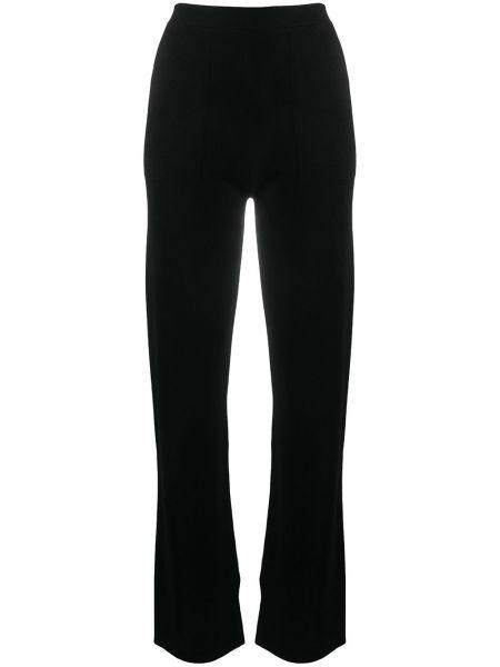 Шерстяные черные прямые брюки эластичные Sminfinity