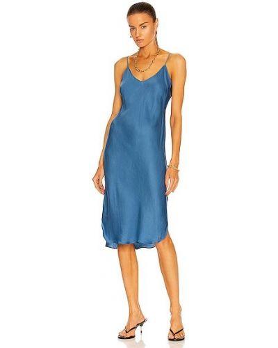 Платье с американской проймой - синее Nili Lotan