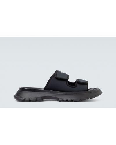 Włókienniczy z paskiem czarny sandały na paskach Givenchy