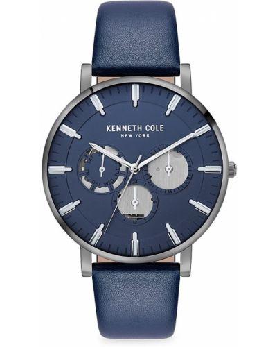 Niebieski zegarek skórzany Kenneth Cole New York
