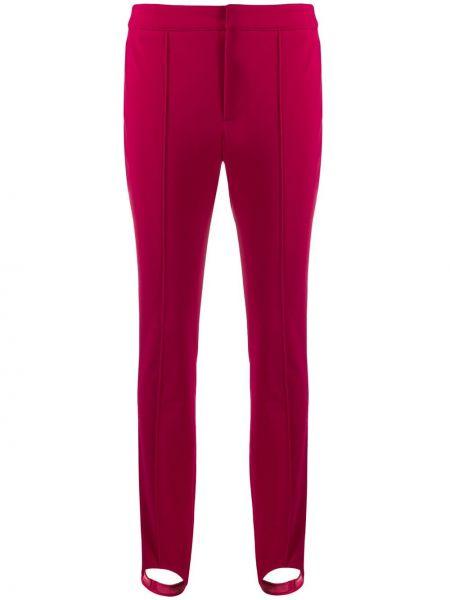 Różowe legginsy z wiskozy Moncler Grenoble