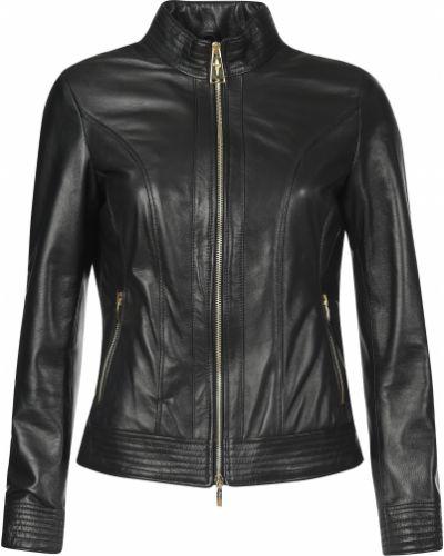 Кожаная куртка из полиэстера - черная Cesare Paciotti