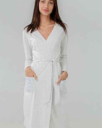 Домашний халат - серый Ora