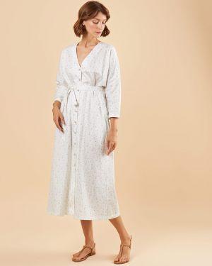 Платье миди с поясом 12storeez