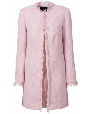 Джинсовая куртка розовая классическая Bonprix