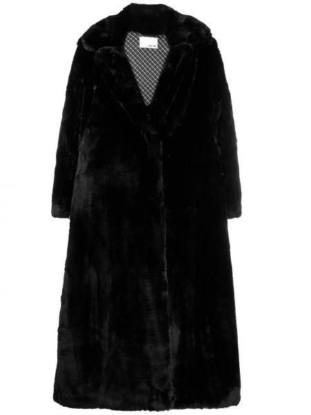 Czarny płaszcz z długimi rękawami Each X Other