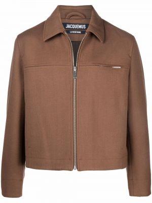 Шерстяная рубашка - коричневая Jacquemus