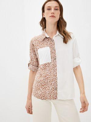 Хлопковая блузка - коричневая Fresh Cotton