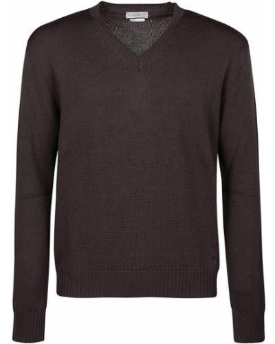 Brązowy sweter z dekoltem w serek Ballantyne