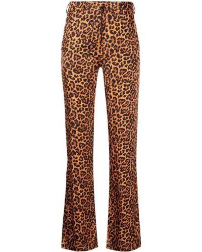 С завышенной талией коричневые брюки с поясом Laneus