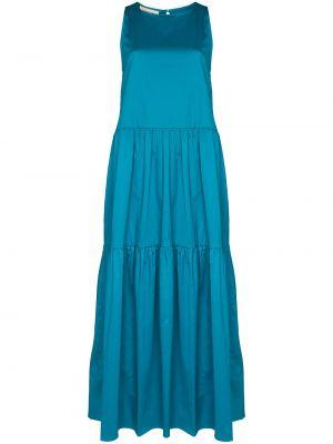 Хлопковое платье макси - синее Adriana Degreas