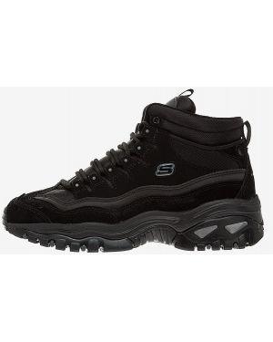 Высокие кроссовки черные Skechers