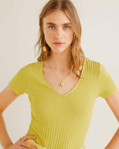 Koszula na gumce żółty Mango