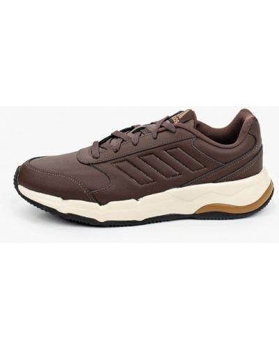 Коричневые кожаные кроссовки Adidas