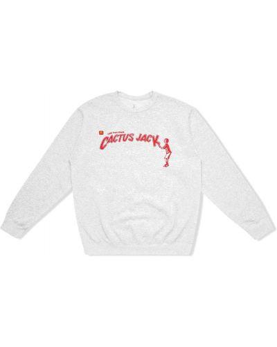 Bluza z haftem z długimi rękawami bawełniana Travis Scott Astroworld