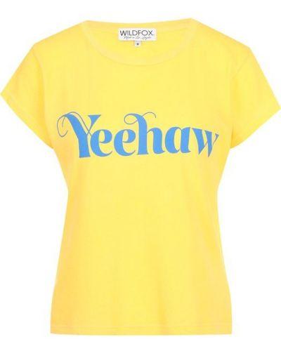Желтая футболка Wildfox