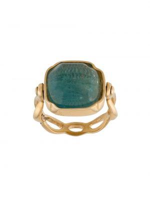 Кольцо позолоченный с логотипом Goossens