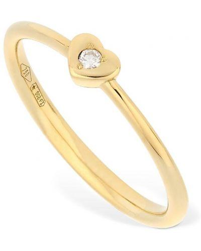 Żółty złoty pierścionek z diamentem Vanzi