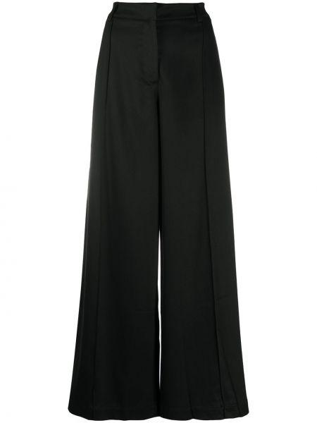 Шерстяные черные свободные брюки свободного кроя с высокой посадкой Andrea Ya'aqov