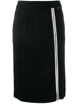 Czarna spódnica z wiskozy Karl Lagerfeld