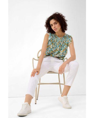 Bluzka bez rękawów z wiskozy w kwiaty Orsay