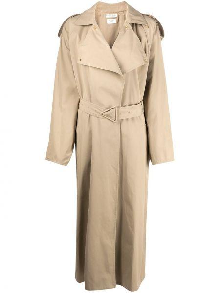 Пальто оверсайз с воротником с поясом на пуговицах Bottega Veneta