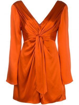 Расклешенное шелковое красное платье мини Cinq À Sept