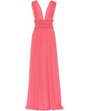 Платье розовое шифоновое Costarellos
