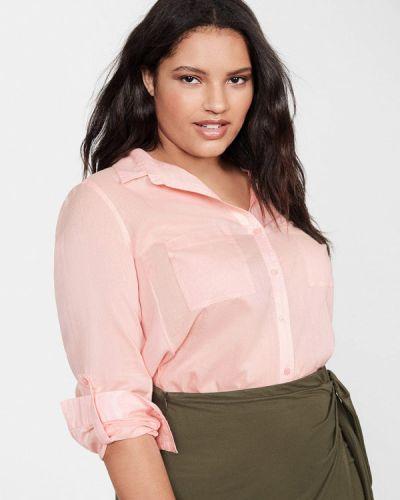 Блузка с длинным рукавом розовая Violeta By Mango