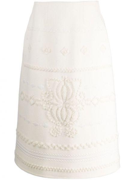 Тонкая шерстяная юбка миди Ermanno Scervino
