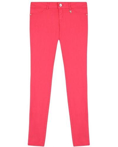 Прямые джинсы с заклепками розовый Armani Junior