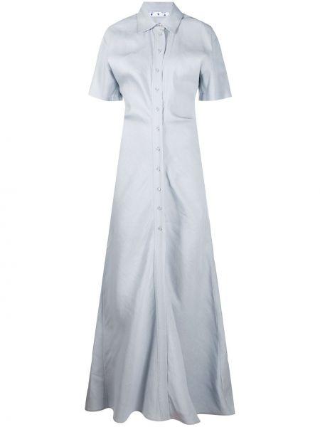 Sukienka mini z kołnierzem chudy Off-white