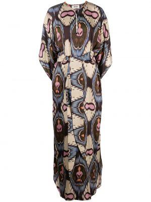 С рукавами платье макси для полных из вискозы Bazar Deluxe