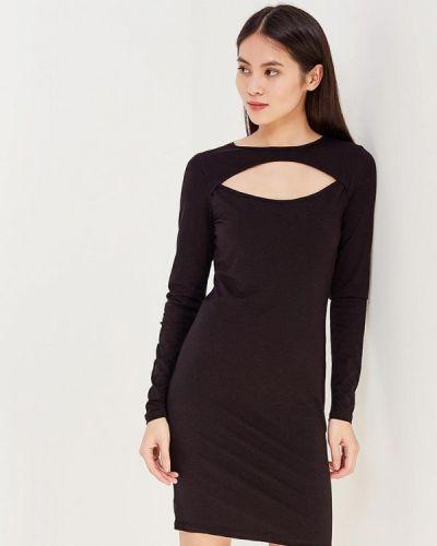 Черное платье с длинными рукавами Noisy May