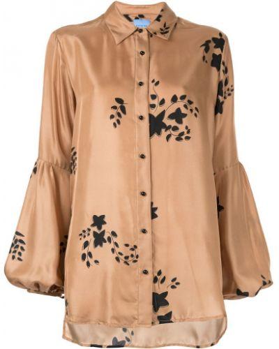Блузка с длинным рукавом с принтом с цветочным принтом Macgraw