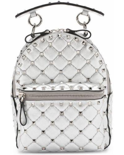 Кожаный рюкзак маленький с шипами Valentino