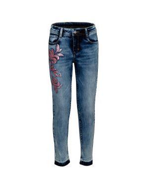 Прямые джинсы с вышивкой розовый Gulliver Wear