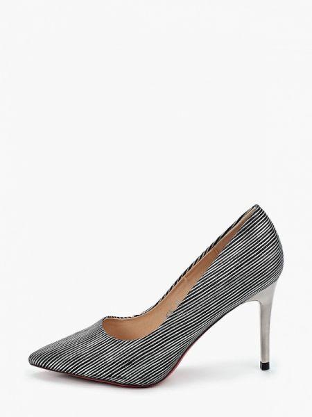 Велюровые серые туфли Vivian Royal