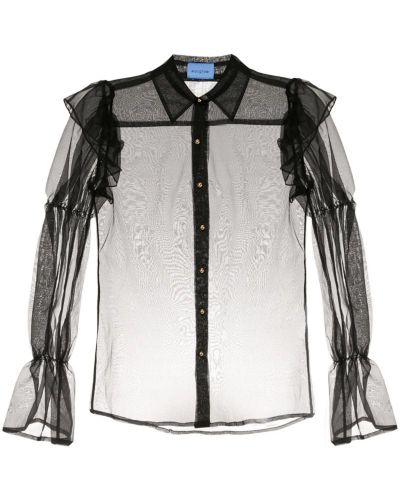 Блузка прозрачная черная Macgraw