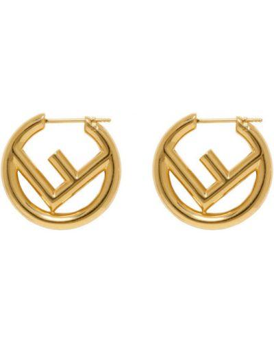 Kolczyki ze sztyftem kolczyki pierścionki ze złota Fendi