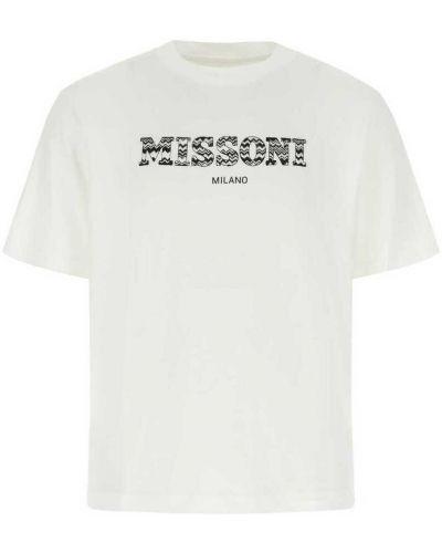 Biała t-shirt Missoni